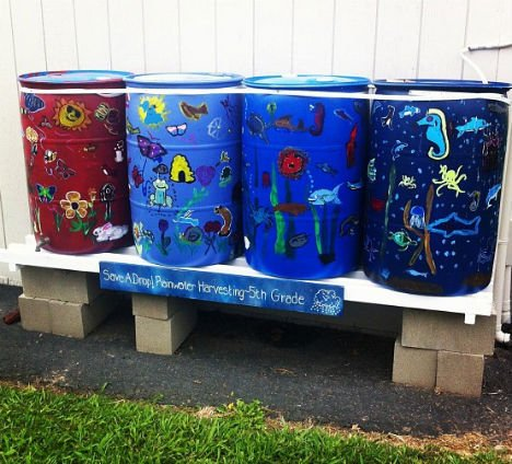 Off Grid Rain Barrel System