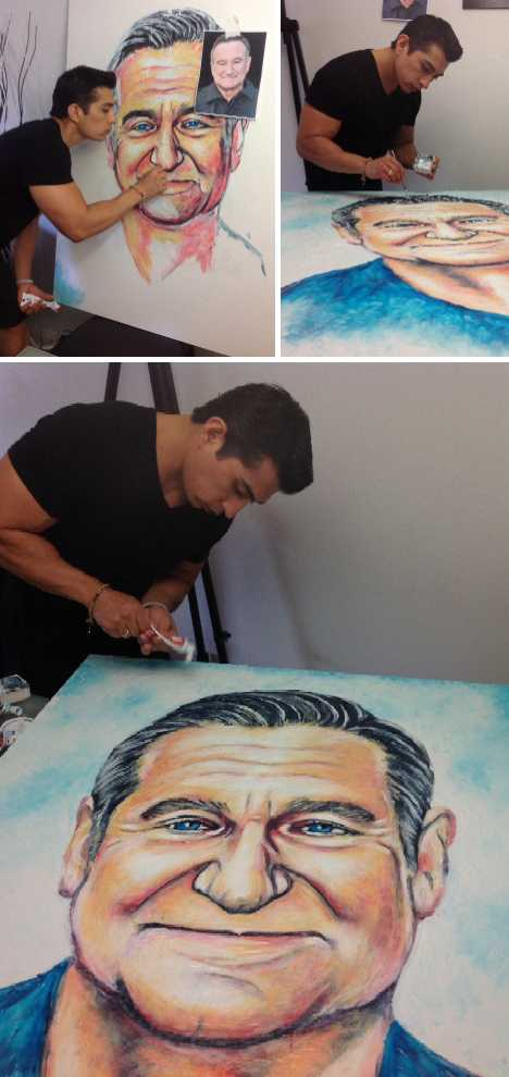 Brush Well: The Toothpaste Paintings Of Cristiam Ramos