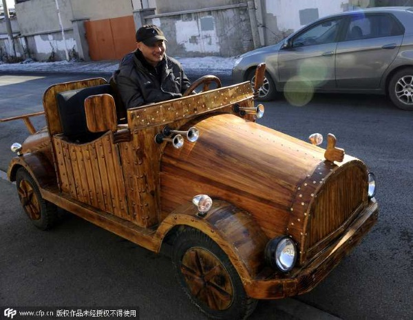 China wooden electric car cd3