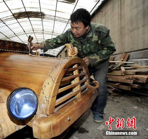 China wooden electric car t3