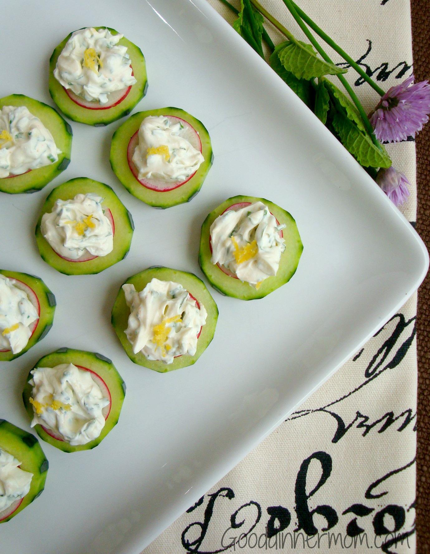 healthy swaps cucumber slices