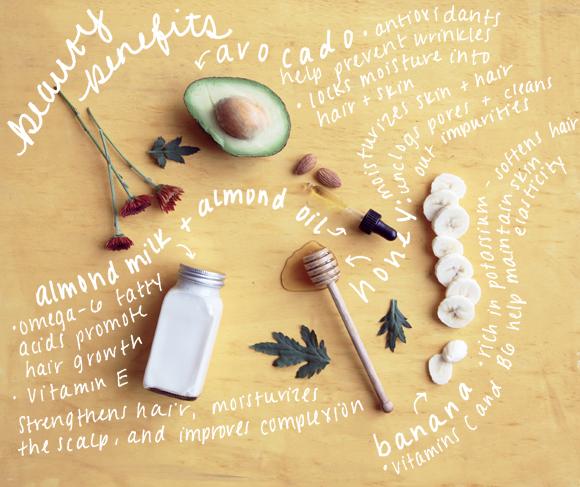 diy beauty recipes avocado almond