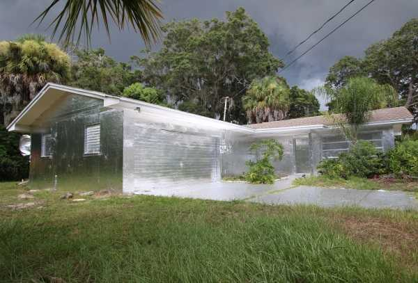 Heavy Metal Wrap: Foil Covered Florida House